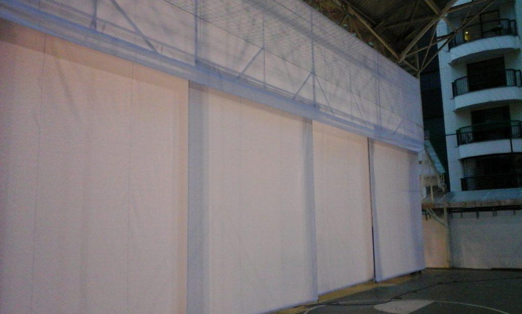 cortina de enrolar grande