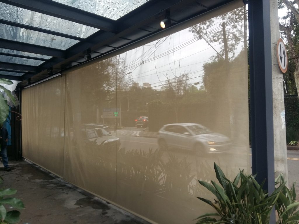 cortina de tela